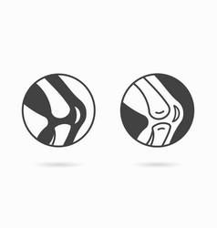 Knee icon logo design template vector