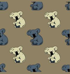 Koala seamless pattern vector