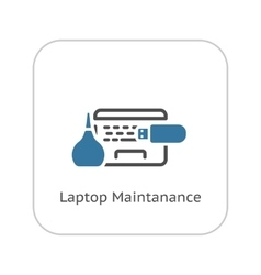 Laptop Maintanance Icon Flat Design vector image vector image