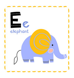 letter e funny alphabet for young children vector image