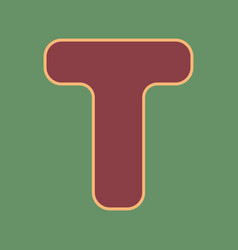 Letter t sign design template element vector