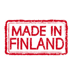 made in finland stamp text vector image