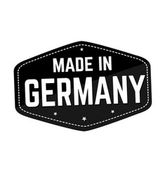 Made in germany label or sticker vector