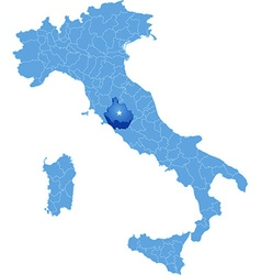 Map of Italy Viterbo vector image