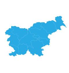 map of slovenia high detailed map - slovenia vector image