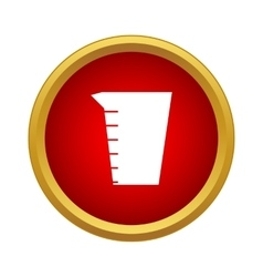 Measuring cup icon in simple style vector