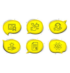 medical drugs like and loyalty program icons set vector image