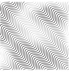 monochrome wavy texture isolated on white vector image