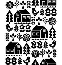 Nordic scandinavian folk art seamless pattern vector