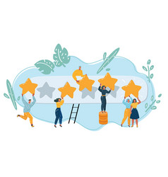 people leave feedback and comments vector image