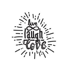 Poster live laugh love vector image