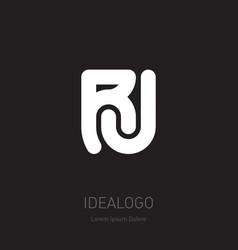 r and j initial logo rj initial monogram logotype vector image
