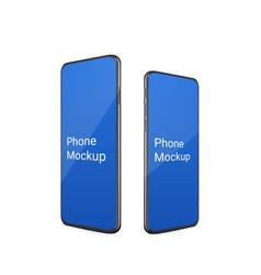 realistic phone mockup with reflect standing on vector image