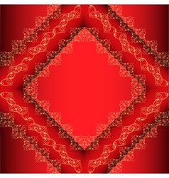 Red Ornamental Frame Background vector image