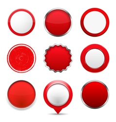 Red Round Buttons vector
