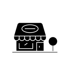 retail shop black concept icon retail shop vector image