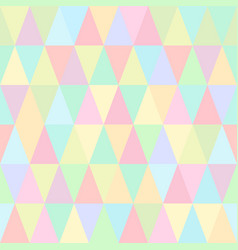 seamless pattern of colorful triangles vector image