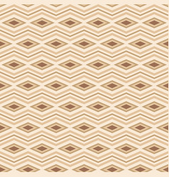 seamless pattern of rhombuses and zigzag lines vector image