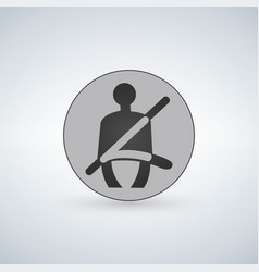 Seat belt warning icon safety belt car symbol vector