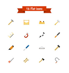 set of 16 editable tools icons includes symbols vector image