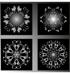 Set of four abstract shapes vector image