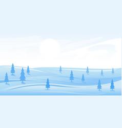 Simple winter landscape vector