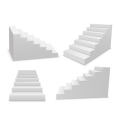 stair 3d white isolated ladder staircase vector image