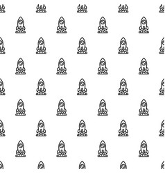 start up rocket pattern seamless vector image