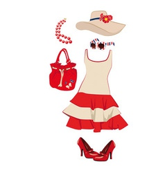 summer womens clothing and accessories vector image
