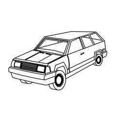 suv car sport utility vehicle cartoon vector image