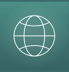 the globe icon with editable stroke globe symbol vector image