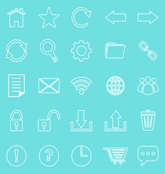 Tool bar line icons on blue background vector