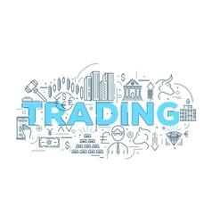 Trading Linear Design vector