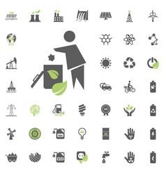 trash icon eco and alternative energy icon vector image