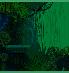 tropical spinney foliage jungle nature background vector image