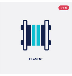 Two color filament icon from general-1 concept vector