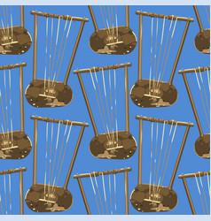 Vintage woodenn stringed musical instrumen vector