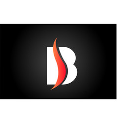 White and black b alphabet letter logo icon for vector