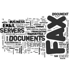 Why every company needs a fax server text word vector