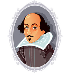william shakespeare caricature vector image