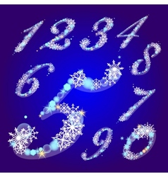 winter figures with snowflakes vector image