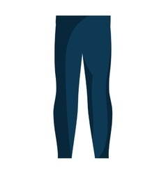 winter pants clothes icon vector image