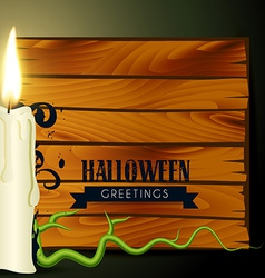 halloween candle vector image vector image