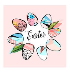 hand drawn abstract creative texture easter vector image