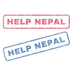 help nepal textile stamps vector image vector image