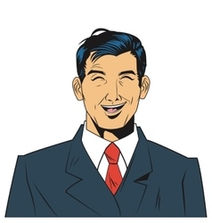 man with jacket and tie laughing vector image vector image