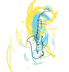saxophone vector image vector image