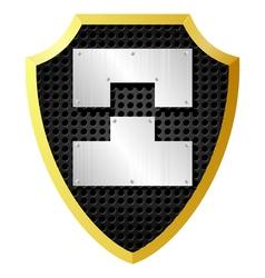 shield with metal pieces vector image