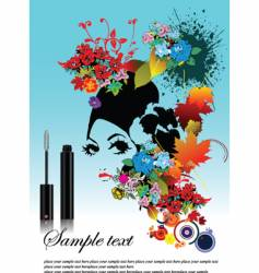 woman with mascara vector image vector image