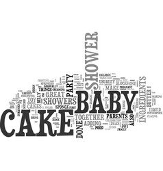 Baby shower cake ideas text word cloud concept vector